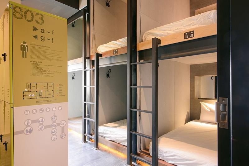 獨立的睡眠空間-奇異果青年旅館